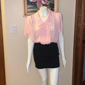 Vintage pink chiffon blouse. Size 16